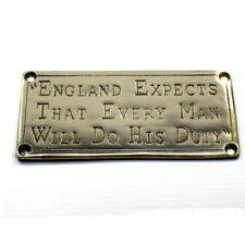 "England Expects...."" brass door plaque"