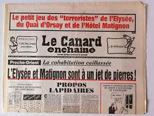 Le Canard Enchaîné 1/03/2000; Dessin de Cabu/ Le petit jeu des terroristes