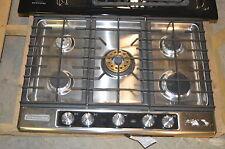 "KitchenAid KFGU706VSS 30"" Stainless Built-In Gas Cooktop NOB T-2 #15668"