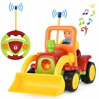 IDEAPARK Remote Control Car RC Car, Tractor Toy with Music and Light, Gift for 2