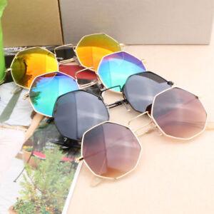 Women Hexagon Eye Sunglasses Large Classic Designer Vintage Retro Ray Sunglasses
