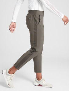ATHLETA Brooklyn Ankle Lightweight Travel Pant Mountain Olive Women Size 8P  NWT