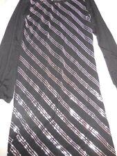 nwot Hanna Montana black silver sequin knit  dress  girl 16 free ship USA