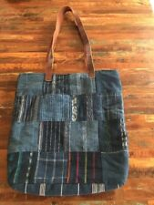 Altiplano Hand Made Bohemian Style Blue Denium Tote Shopper Bag!