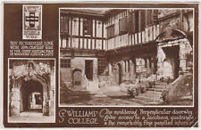 RPPC,York,U.K.St.William's College,2 Views,Yorkshire,Used,c.1920s