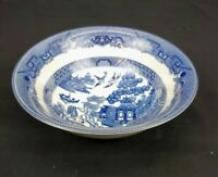 Johnson Brothers Blue Willow Soup Bowl Blue and White
