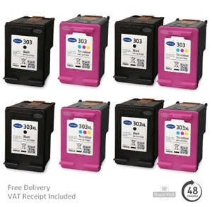 Remanufactured HP 303 & 303XL Ink Cartridges For HP Envy 6234/7830 Printers
