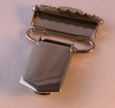 Hosenträgerclip für ca.30mm breites Hosenträgergummi silberfarbig