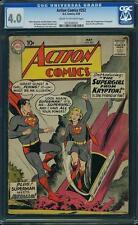 Action Comics #252 CGC 4.0 DC 1959 1st Supergirl! Origin! Superman! JLA! F2 cm
