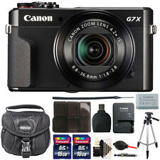 Canon G7X Mark II PowerShot 20.1MP Digital Camera + 32GB Deluxe Accessory Kit