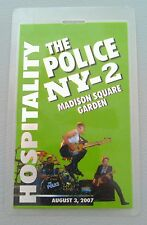 2007 8/3 Police Foil Backstage Pass Madison Square Garden Hospitality