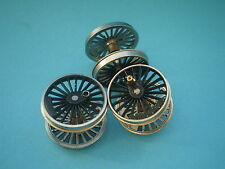 00HORNBY SPARES.26mm LOCO WHEELSETS BLACK (SUPERIOR)