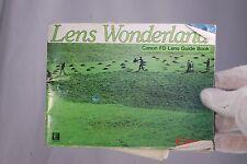 Canon Lens Wonderland FD Lens Guide Book Booklet list (EN) 7210030