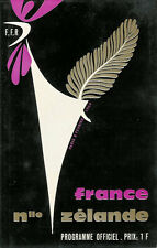 FRANCE v NEW ZEALAND 8 Feb 1964 at Paris RUGBY PROGRAMME