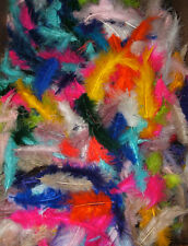 "2 oz Marabou Feathers 3-8"" with Imperfections Assorted Colors BARGIN BUY"