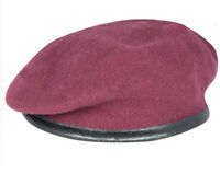 BRITISH ARMY MAROON OFFICERS SILK LINED SMALL CROWN BERET PARA AIRBORNE FORCES