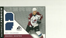 MAREK SVATOS 07-08 UPPER DECK SP GAME USED DUAL JERSEY COLORADO AVALANCHE
