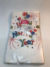 HAPPY NEW YEAR PARTY Paper Table Cover Vintage Tuttle Press NEW NOS