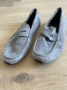 cole haan grey suede loafers men 13