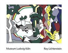 Landscape With Figures by Roy Lichtenstein 1989 Serigraph Art Print 35.5x27.5
