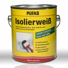 Pufas Isolierweiss 2l Isolierfarbe isoliert Wasserflecken Nikotin Ruß