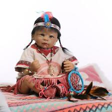 "New 22"" reborn baby Girl doll Likelife newborn Native American Indian kids gift"