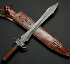 Custom handmade knife king's Damascus Steel Double edge Sharp Sword