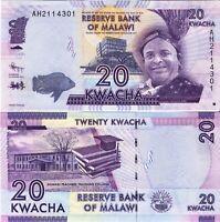Malawi Banknote UNC 20 Kwacha 01.01.2012 Reserve Bank of Malawi P-57a SELTEN