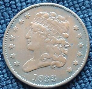 1833 Classic Head Half Cent, Beautiful Rare ½C US Coin, Make Reasonable Offer.