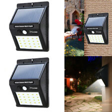 2X Solar Power Sensor 20 LED Wall Light Security Motion Waterproof Outdoor Lamp