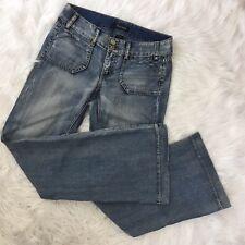 White House/Black Market Noir2 Lightweight Denim Trouser Leg Jeans  #wJ5