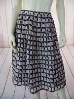 LAFAYETTE 148 NY Skirt 8 Tan Brown Cotton Silk Textured Blend Pintuck Pleats