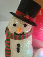 Chilly Sam Light Up Snowman New in box (needs bulbs) CHRISTMAS avon collection