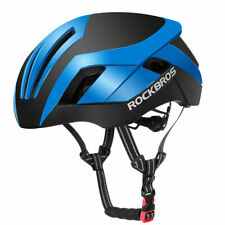 ROCKBROS Cycling Integrally Protective Helmet 3 in 1 Blue with LED Tail Light