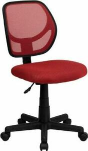 Low Back Red Mesh Swivel Task Office Chair [WA-3074-RD-GG], NEW