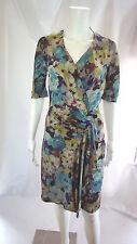 ETRO Silk  Multi Color Floral Print Sheath Dress Size 38