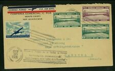 Dominican Republic 1935 Airmail Monte Cristy to Germany w/ Scott C20, 295, 297