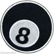 Eight 8 Ball Billiards Pool Snooker Baseball Motorcycle Biker Iron On Patch #391