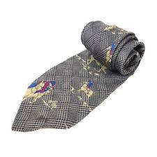 Vintage IZOD Designer de marque pour hommes complet soie gris Jocky motif