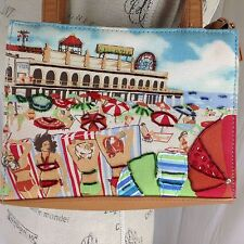 Frankie & Johnnie Beach Boardwalk Shoulder Bag Beaded Canvas Purse