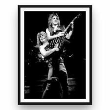 "Randy Rhoads Ozzy Osbourne Poster Black and White Rare Tribute Print 24x36"""