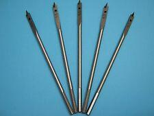 Machine Flat Wood Drill Bit 6.5mm x 5 - Flat Head Bit Cutter 6.5mm