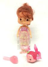 "Strawberry Shortcake 2002 Bandai Mermaid Pink 6"" Doll w/ Sea Sweetie Fish"
