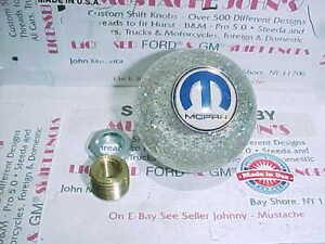 MOPAR, Dodge, Plymouth, Chrysler, Custom   clear glitter   Shift Knob, Hot Rod,