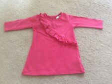 MARKS AND SPENCER M&S BABY GIRL PINK COTTON DRESS FRILL & SPARKS AGE 3-6 MONTHS