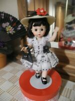 Madame Alexander WENDY JOINTED Doll Recital, Straw Hat Purse Shoes Slip Stand 8""