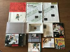 Chrono Trigger (Super Nintendo SNES) Complete CIB w/ Posters + Ads