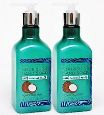 2 Bath & Body Works Honolulu Sun Nourishing Gel Hand Soap With Coconut Milk