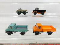 CK869-0,5# 4x Wiking H0/1:87 Unimog Mercedes-Benz/MB: 370 + 37n etc, NEUW