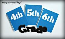 Craftecafe School Kid Title paper piecing premade scrapbook die cut Wolffey5
